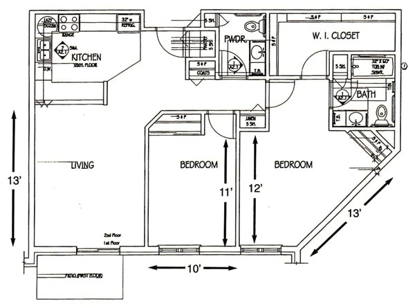 Unit C - 2 Bedroom